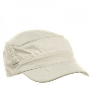Washed Cotton Fitted Army Cap-White W32S33F - C01126BE4NH