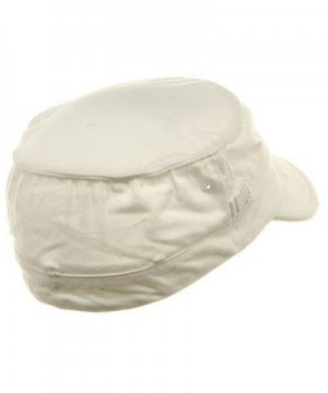 Washed Cotton Fitted Cap White W32S33F in Men's Baseball Caps