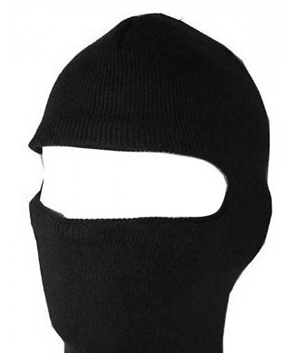 New One Hole Face Ski Mask - Black - CW1136W8MK1