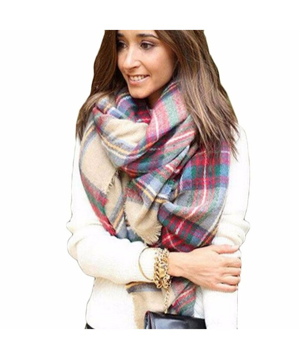 DZT1968(TM) Newest Women's Joker Oversized Tartan Wrap Shawl Warm Four Seasons Scarves - A - CV127SP7EAT