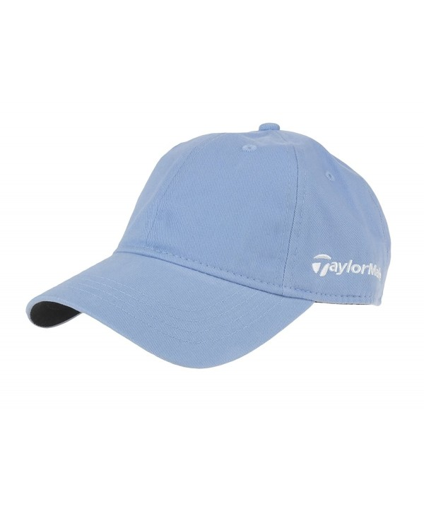Taylormade Womens Front Hit 100% Cotton Twill Relaxed Cap - Light Blue - CB12DVM0AD1