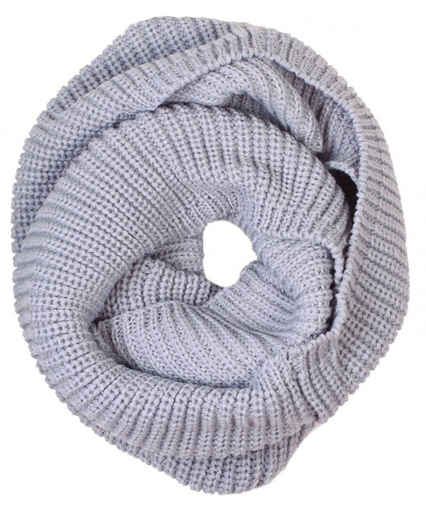 Simplicity Men / Women Knit Infinity Scarf- Solids & Patterned - Light Grey_b12100117 - CQ11B544U6R