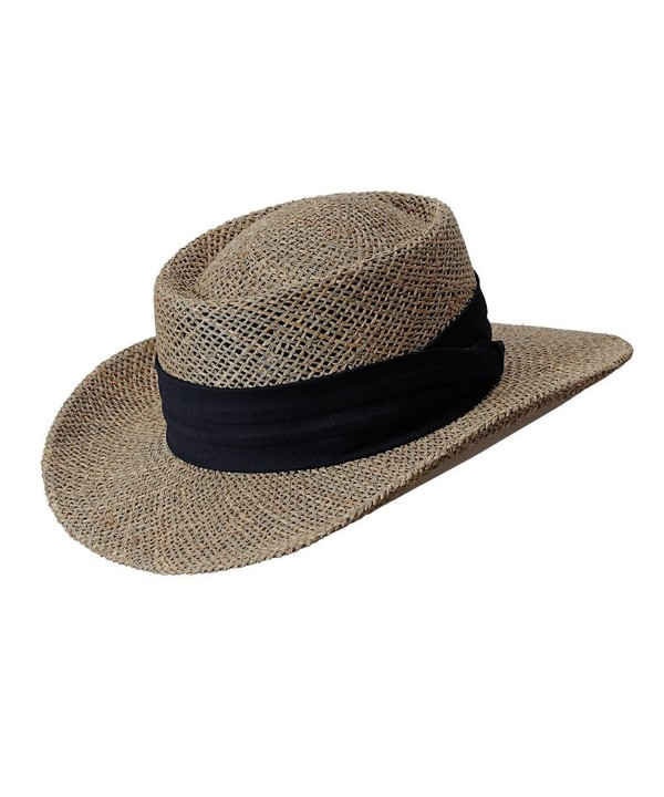 Seagrass Caribbean Gambler Hat by Turner Hat - Brown - C512G227STR