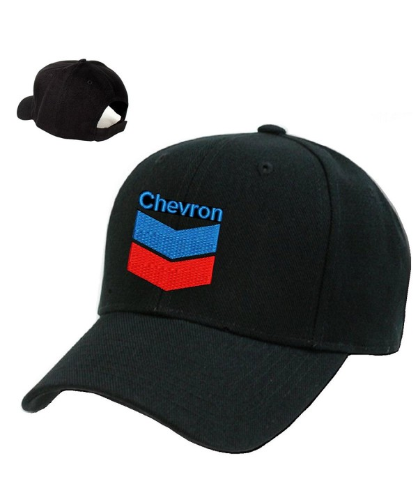 *CHEVRON*Gas Station Black Embroidery Adjustable Baseball cap Souvenier Gift Unique Hat - CK127AIC74R