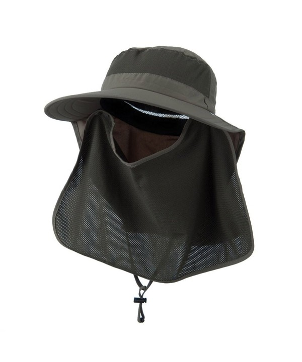 UV 50+ Talson Large Bill Flap Hat with Detachable Inner Flap - Olive - C311FITPJA5