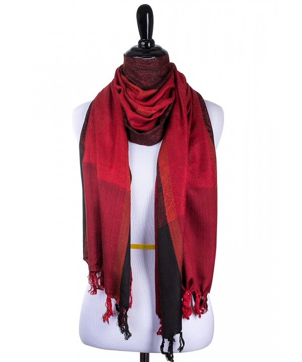 Red Black Fashion Scarf Women - CF189CLM6D0