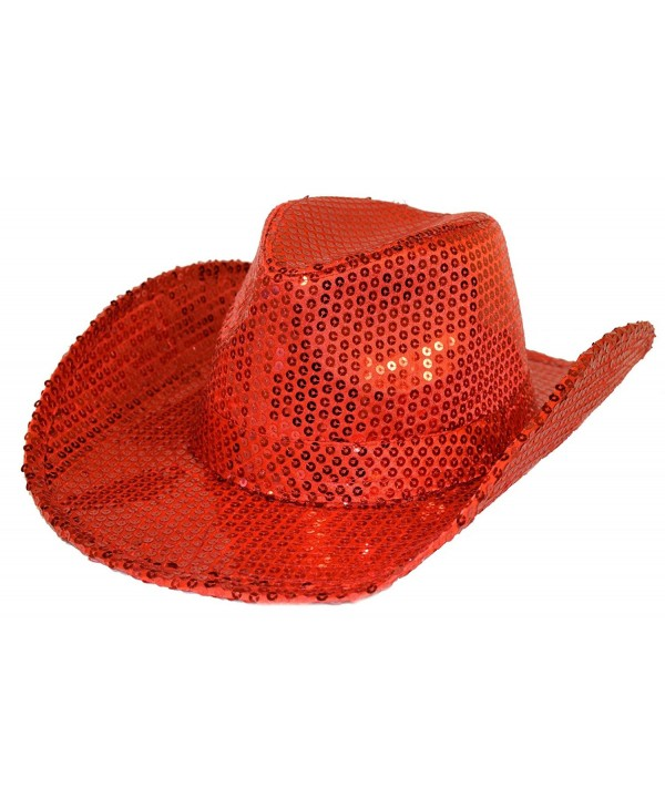 Red Sequin Western Hat Red Hat Ladies Society - C3115H182QD
