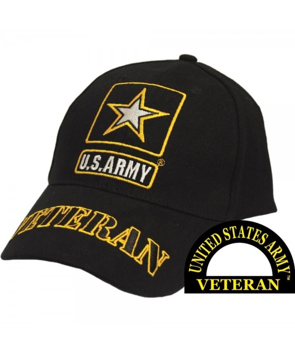 United States Army Veteran II Black Hat Cap USA - CC11COQCARP