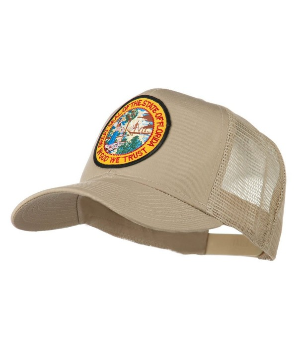 Florida State Patched Mesh Cap - Khaki - CP11Q3T2W1J