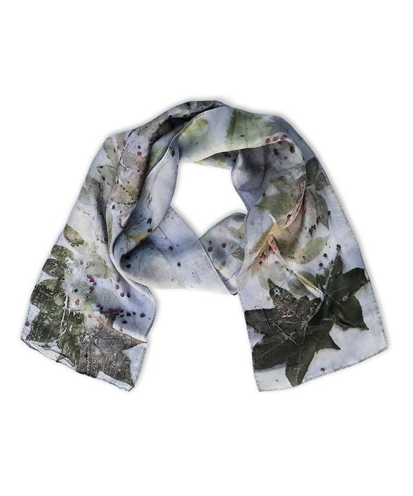Earth Accessories Handmade Eco-Friendly Silk Scarf - Earth Tones - CI186K8IT0R