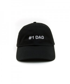 Dad Hat 1 Dad Baseball Cap Number 1 Dad Hat Adjustable Embroidered Cap Black - CR182RXLX0Z