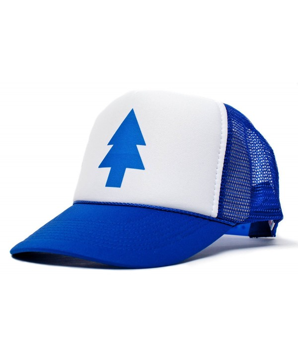 Dippers Blue Pine Tree Unisex-Adult Trucker Hat -One-Size Royal/White - C711FOMR64T