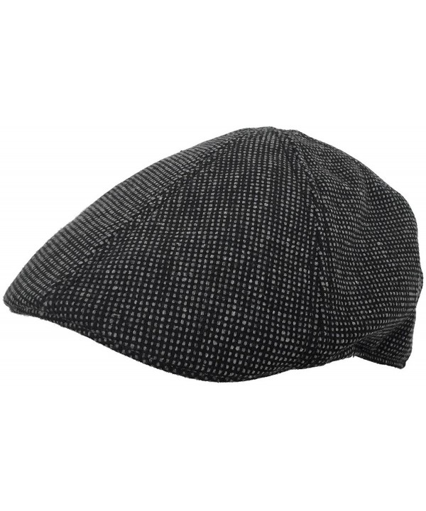 Brooklyn Hat Co Duckbill Ivy Cap 6 Panel Wool Blend Driver Pub Hat - Black - CL1278LTN2L