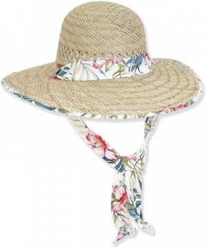 Sun 'N' Sand - Caribbean Joe Sun Women Hat Rush Straw Wide Brim - Breeze - White - CJ12ER7LVK1