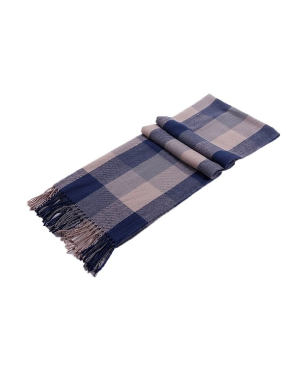 Nanxson(TM) lady/ women scarf Fashion Scarves Plaid Design WJ0050 - Bluegrey - C011PVT85A3