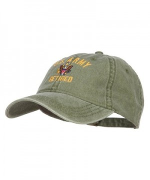 Army Retired Military Embroidered Washed