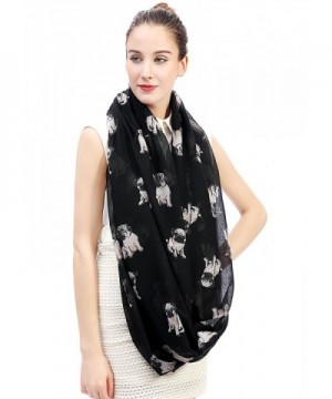 Lina Lily Print Womens Infinity in Fashion Scarves