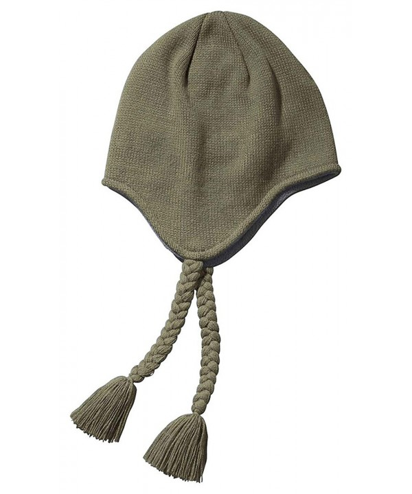 Big Accessories BX027 Unisex Adult Knit Earflap Beanie - Olive - C911M9BP2ML