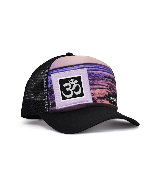 bigtruck Original Yoga Mesh Snapback Trucker Hat- Sublimated Lines - CF12E6U5TUH