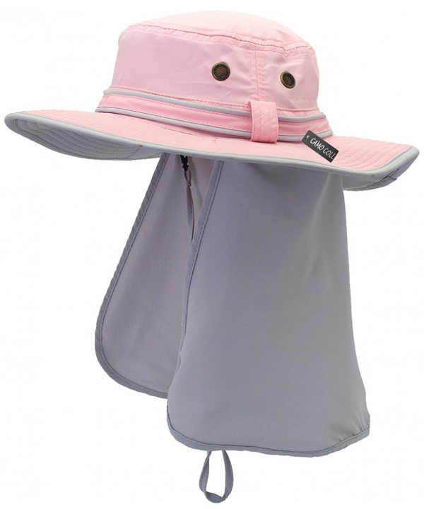 Camo Coll UPF 50+ Sun Hats With Flap Neck Cover - Pink - CN182AYN89I