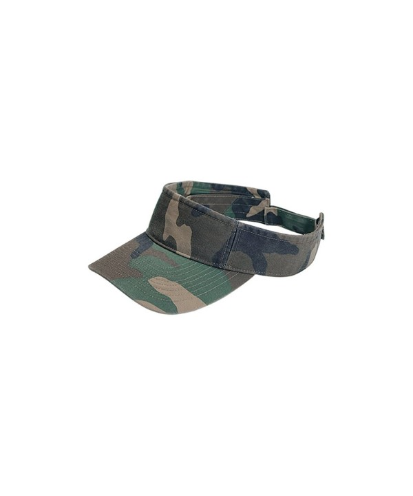 MG Camouflage Pattern Washed Outdoor Sun Visor - Camo - C512CUEKPX7