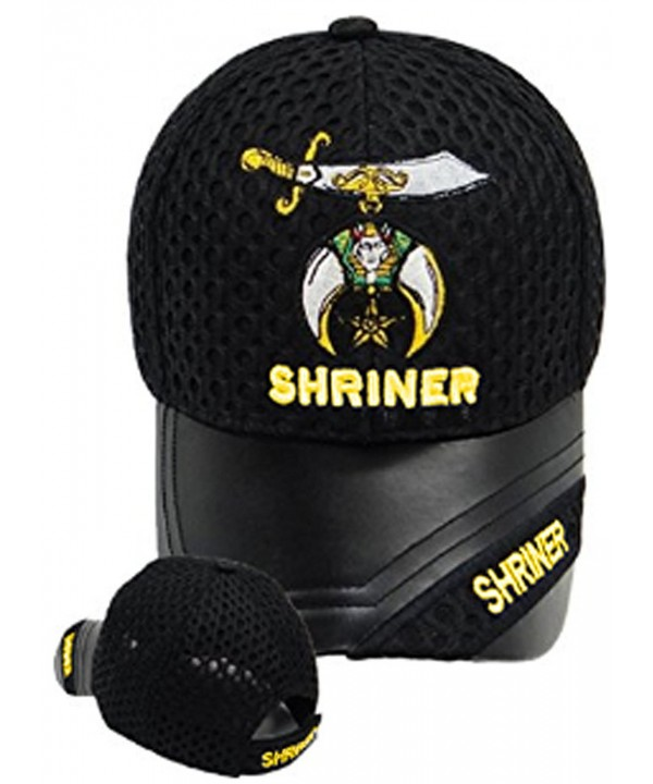 Buy Caps and Hats Shriner Baseball Leather Hat Masonic Mens One Size Black - CH11BSNNQVZ