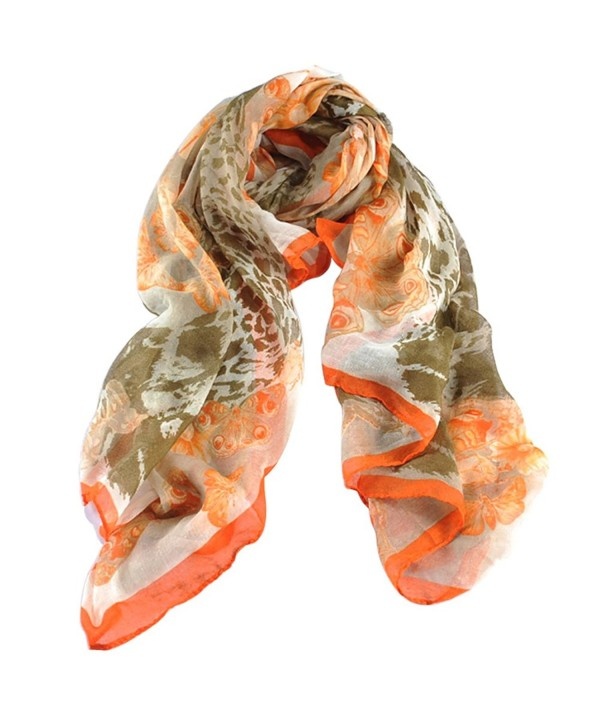 Women's Multi-Colored Bandana Shawl Scarf Silk Long Section - Style 3 - CJ182DU7M0O