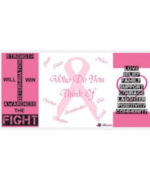 Ribbon Breast Cancer Awareness Embroidered